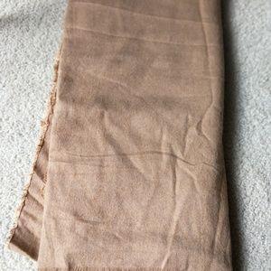 Zara beige scarf with fringe detail